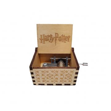 Wooden Music Box - Harry potter