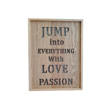 PASSION WOODEN SIGNAGE