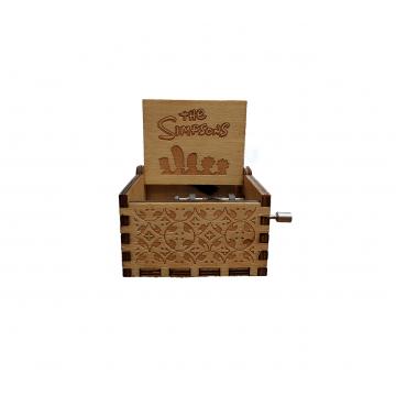 WOODEN MUSICAL BOX - SIMPSON