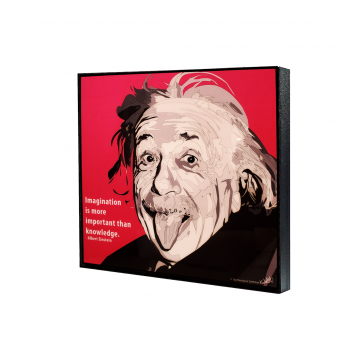 Popart - Albert Einstein Pink